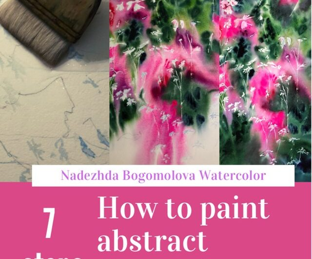 How to paint abstract pink flowers