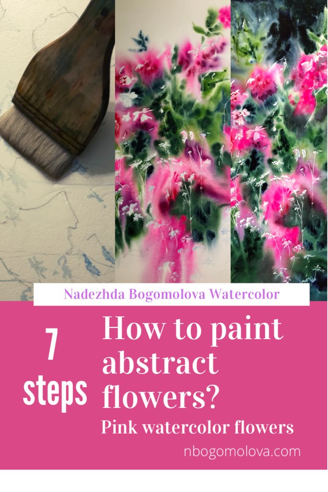 paint abstract flowers how to paint abstract flowers pink flowers watercolor pink watercolor flowers rose flower paint rose flower painting