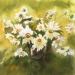 daisies flowers painting