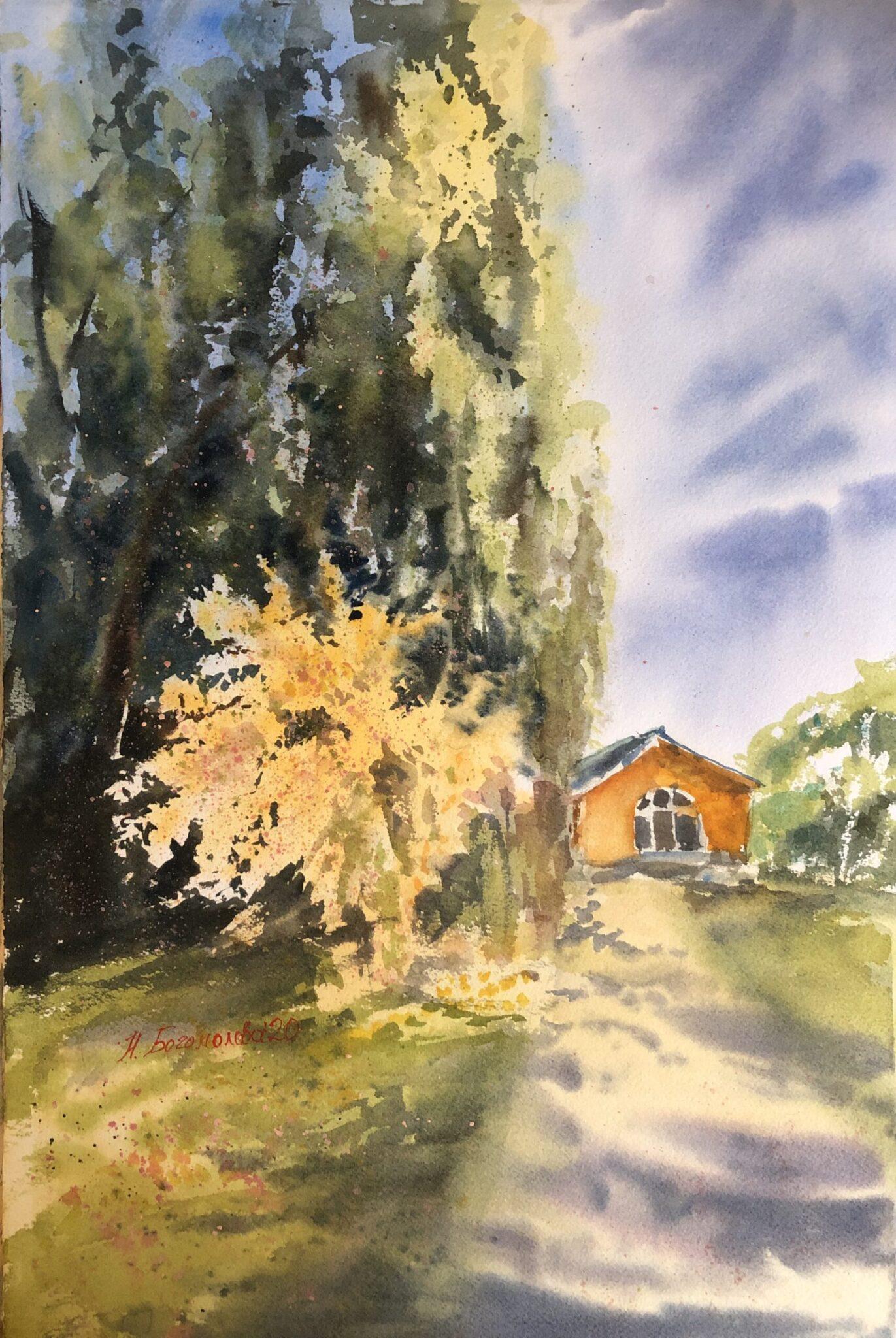 spring landscape painting