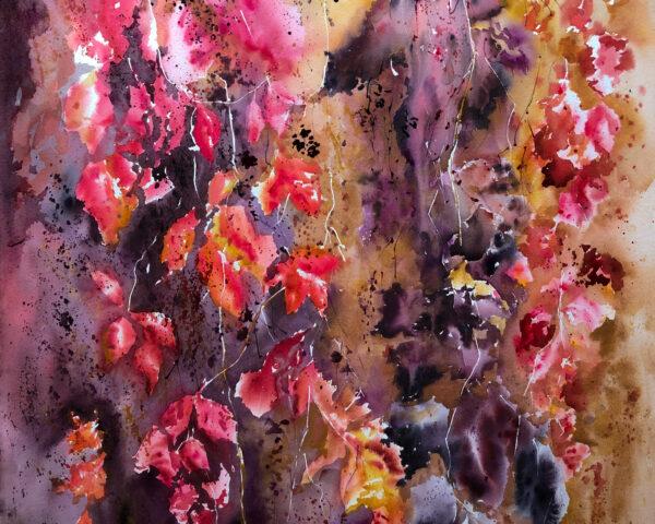 Wild grapes. Golden autumn.